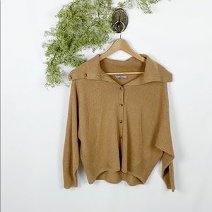 Anthro Fred & Sibel 100% Cashmere Button Cardigan
